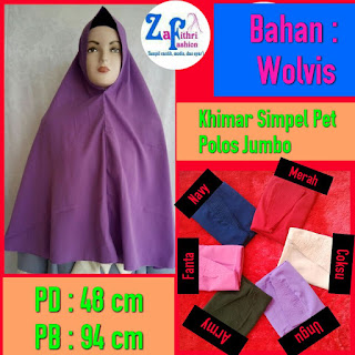 jilbab syar'i simple pet bahan wolvis