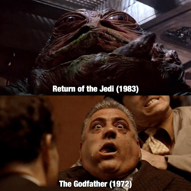 compare godfather with return jedi choking