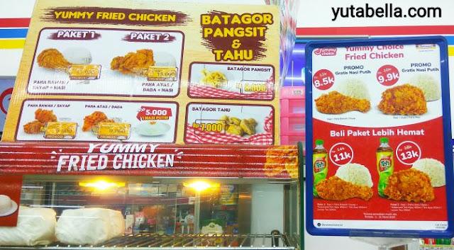 harga yummy choice fried chicken indomaret