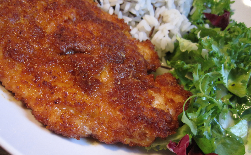 Parmesan and Paprika Crumbed Chicken