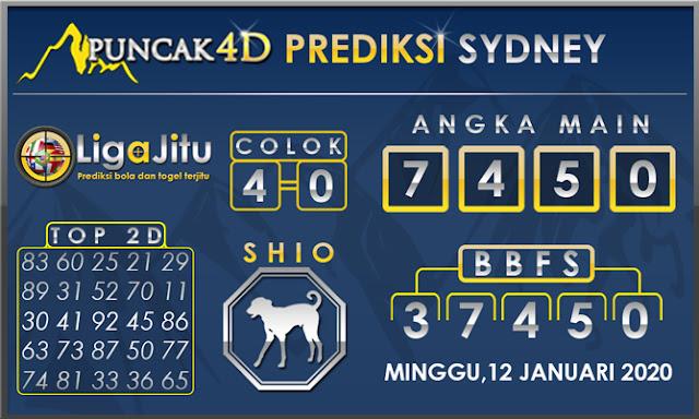 PREDIKSI TOGEL SYDNEY PUNCAK4D 12 JANUARI 2020