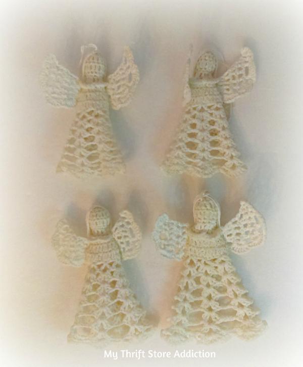 crocheted angel ornaments