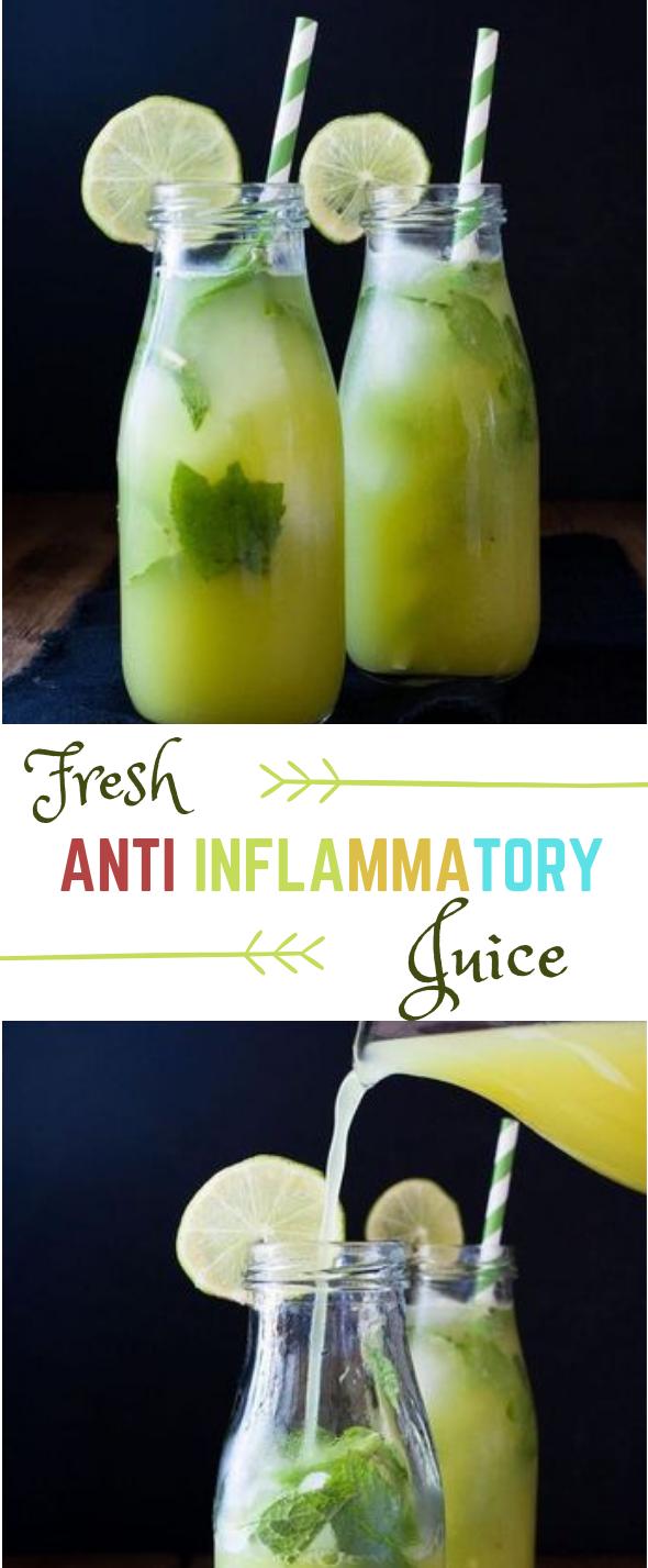 FRESH ANTI-INFLAMMATORY JUICE #drink #fresh