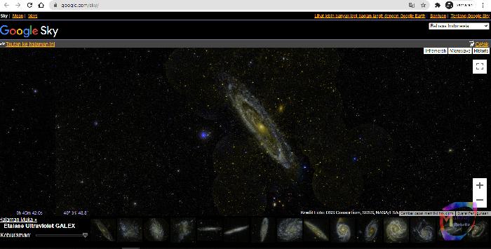 website melihat alam semesta google sky google moon
