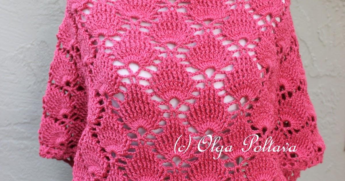 Free Crochet Shell Shawl Patterns : Lacy Crochet: Bright Pink Shells Crochet Scarf