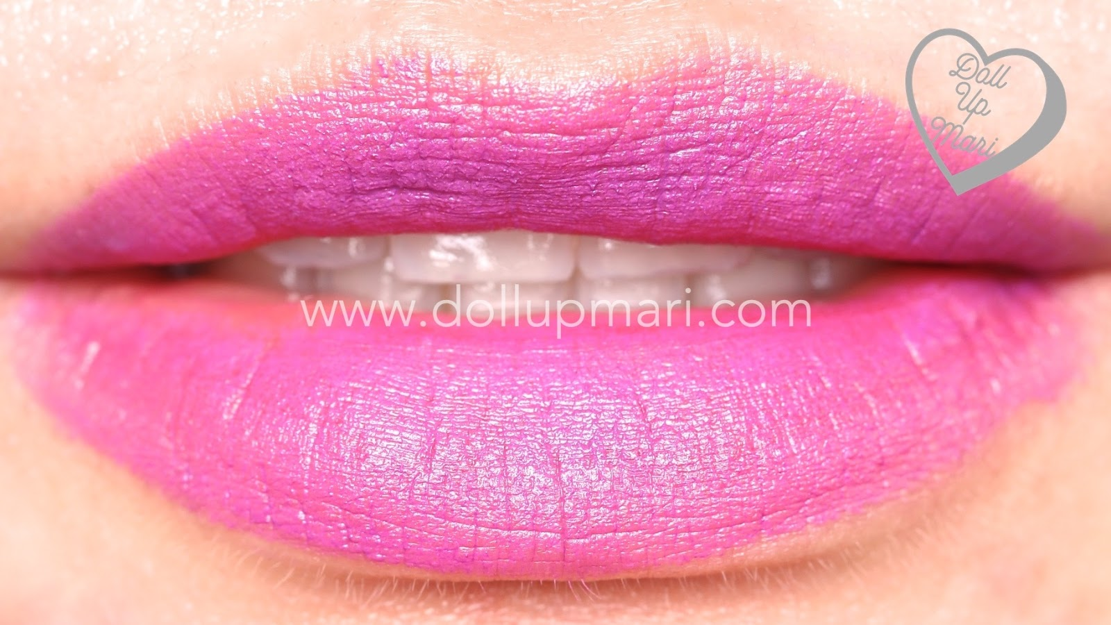 lip swatch of Hot Plum shade of AVON Perfectly Matte Lipstick