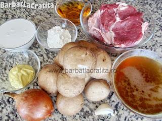 Vita Stroganoff ingredientele necesare retetei