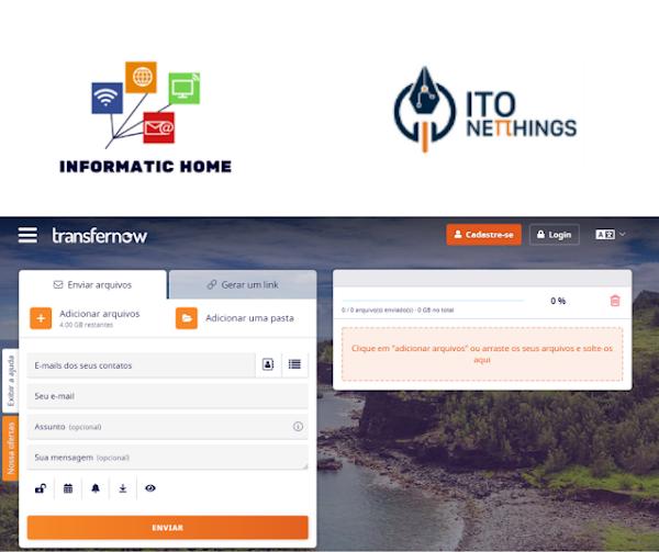 TransferNow - Uma excelente plataforma para enviar ficheiros com tamanho elevado!!!