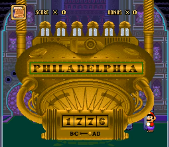 Mario's Time Machine SNES Philadelphia 1776
