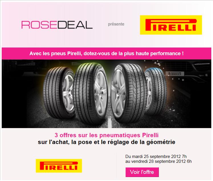 le blog malin vente priv e rosedeal speedy pirelli jusqu 39 55 d 39 conomie du 25 au 28. Black Bedroom Furniture Sets. Home Design Ideas
