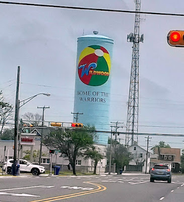 Wildwood Water Tower - Beach Ball Design in New Jersey