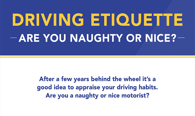 Driving Etiquette: Are You Naughty or Nice? #infographic