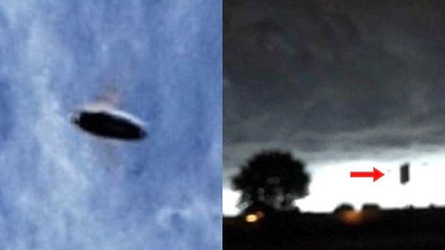 Objetos extraños en el cielo captados por la cámara