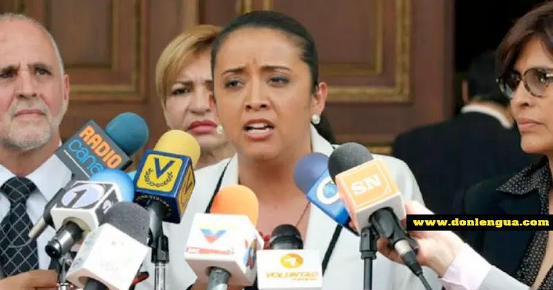 Gaby Arellano renunció al partido Voluntad Popular y se quedará en Colombia
