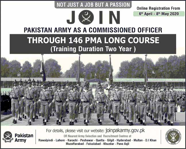 Join Pakistan Army Jobs as Commissioned Officer April 2020