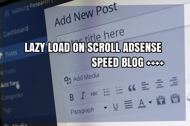 Mempercepat Loading Blog dengan LazyLoad Adsense