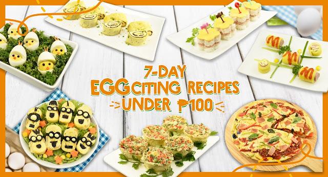 Seven Day Egg Challenge Recipes Under P100