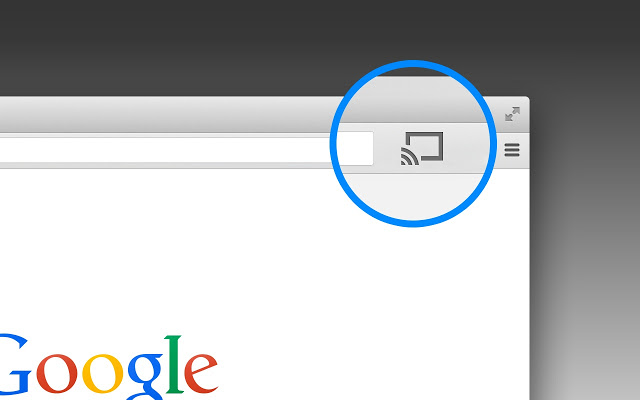 Cast button on Google Chrome