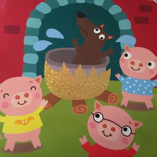 Les Trois Petits Cochons Le feu sous la marmite