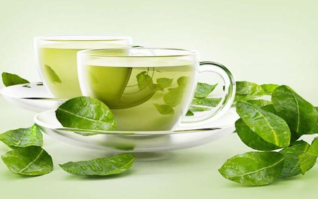 thực phẩm tan mỡ bụng với nước trà xanh