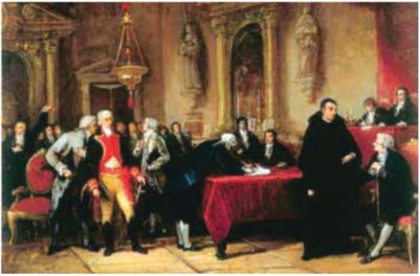 Martin Tovar y Tovar. Assinatura da independência  da Venezuela, 1876