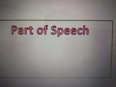 4 Part of Speech dalam Bahasa Inggris