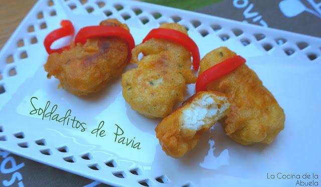 Soldaditos Pavía Fritos bacalao Receta Ingredientes pasos