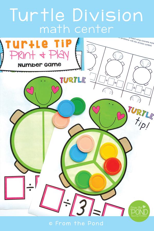 Division Math Center Turtle Tip