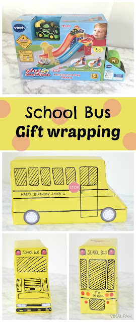 School bus gift wrapping idea