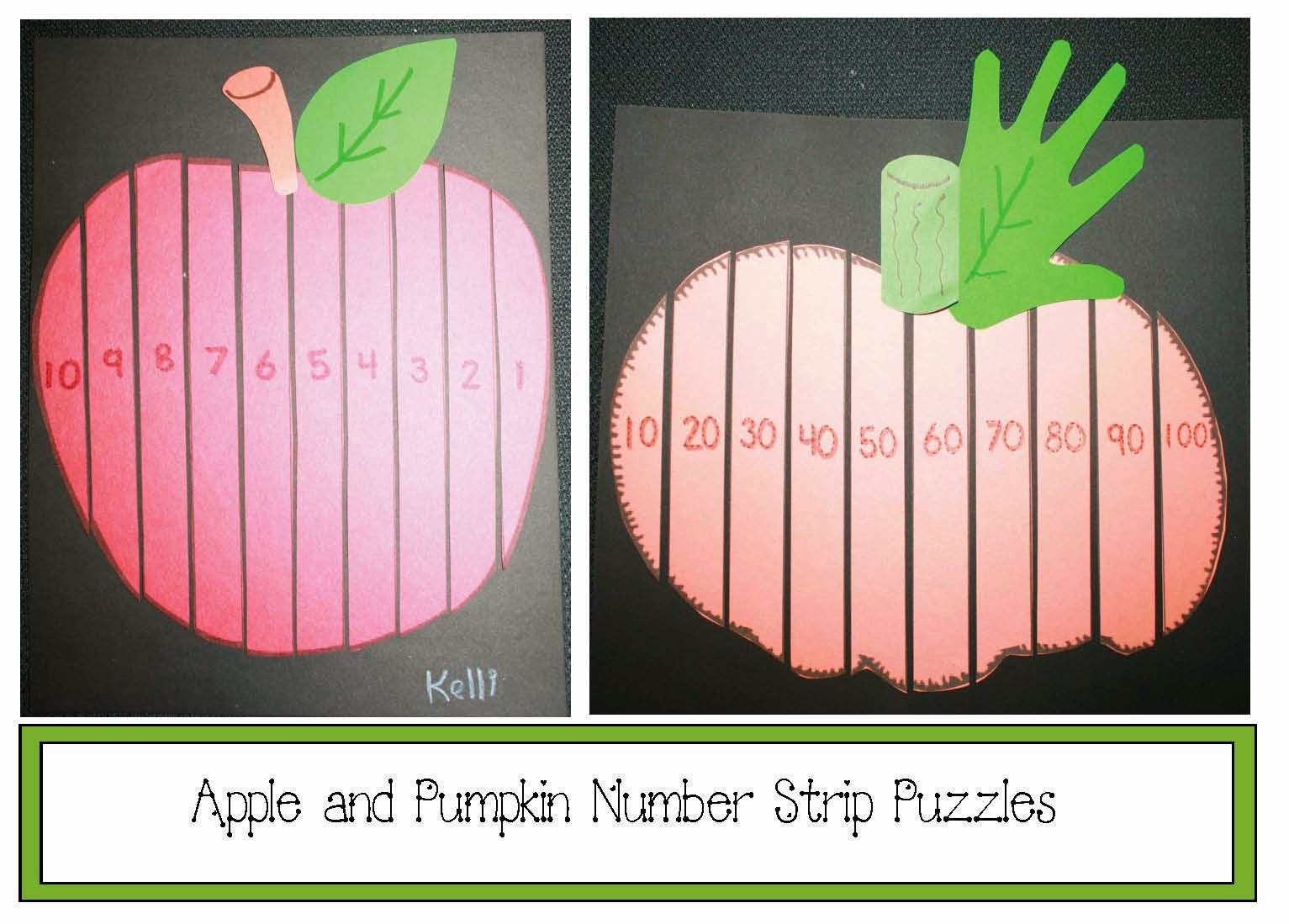 Classroom Freebies Apple And Pumpkin Number Puzzles