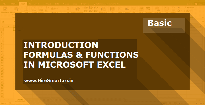 Introduction To Formulas & Functions In Microsoft Excel