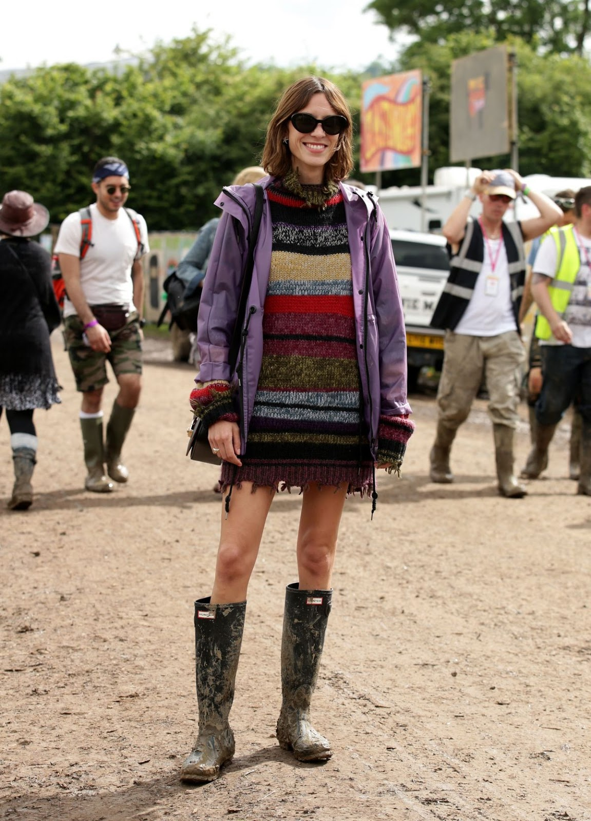 HQ Photos of Alexa Chung at 2016 Glastonbury Festival at Worthy Farm in Glastonbury
