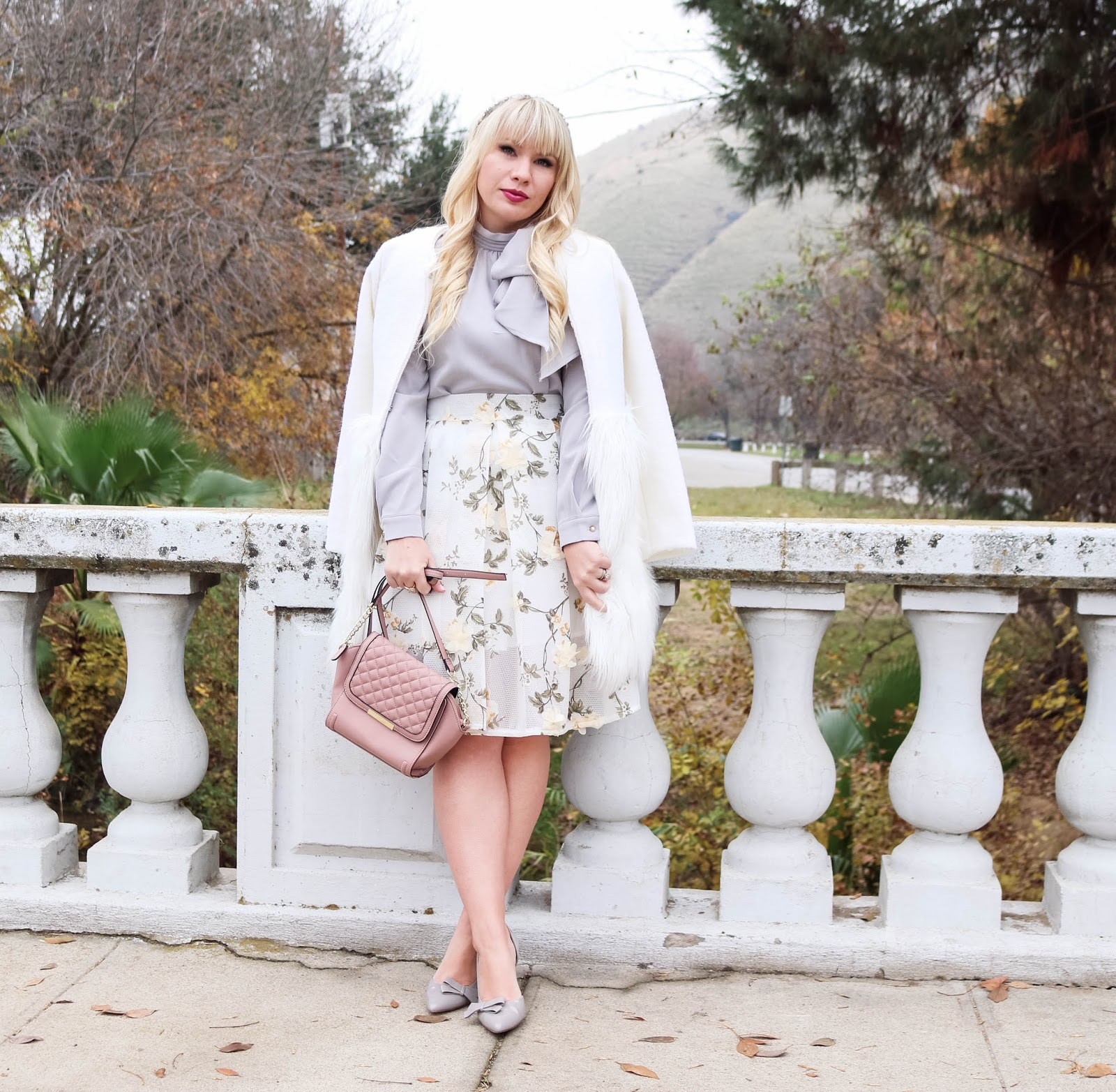 How to Style a Floral Skirt for Winter