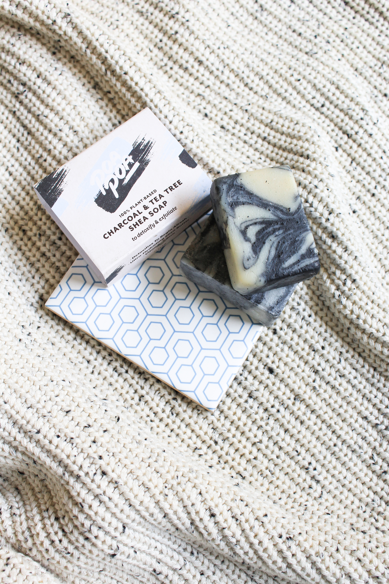 Poapoa Charcoal and Tea Tree Shea Soap. Lovelula