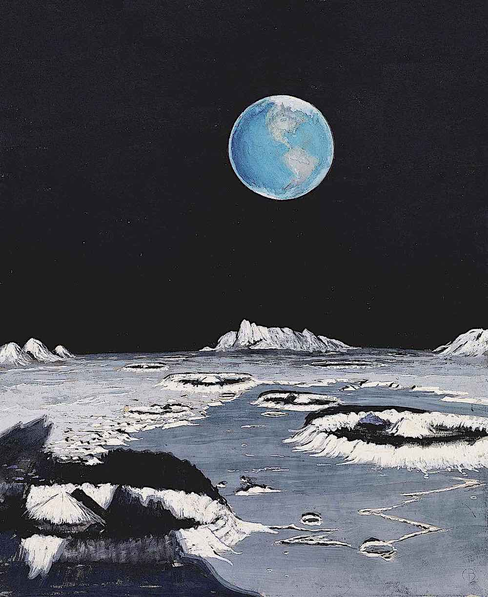 a Charles Bittinger illustration 1939, of the Earth as seen from the moon