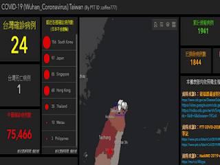 台灣武漢肺炎疫情地圖