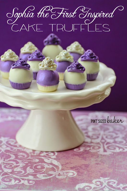Sophia the First Inspired Cake Truffles