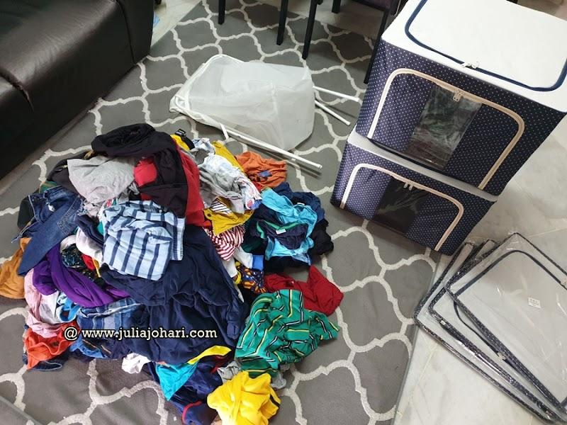 Tiada lagi kisah pakaian berbakul-bakul dan deretan hanger sejak guna KonMari Method !