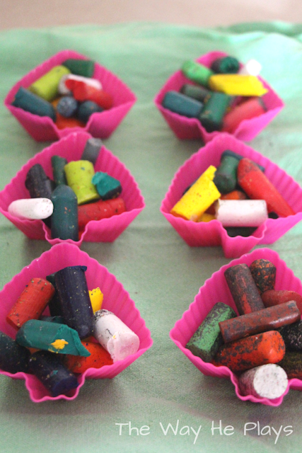 Make your own crayon shapes!