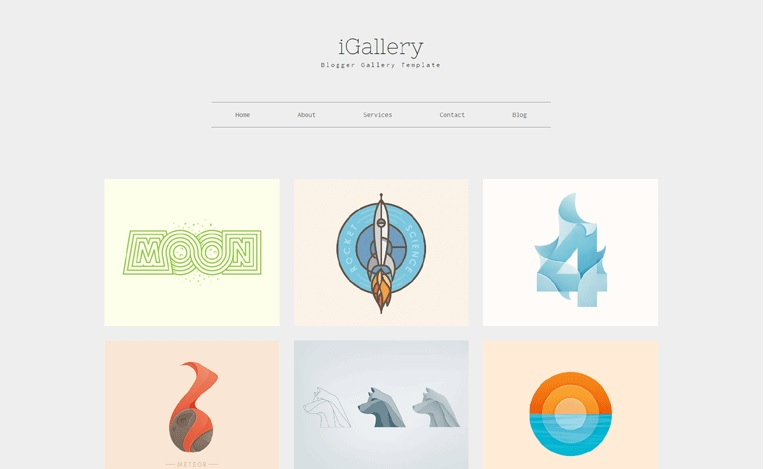 iGallery Photos and Wallpapers Blogger Template Free Download