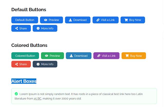 Các kiểu button, khung highlight đẹp  dành cho theme Litespot