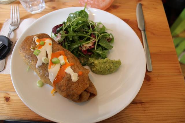 Wild food cafe vegan burrito