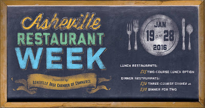 2016 Asheville Restaurant Week (Jan 19-28)