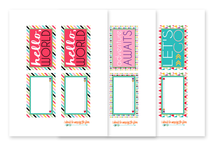 Printable Luggage Tags