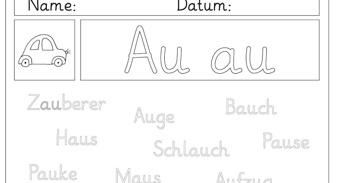 Lernstübchen: Übungsblätter zum Au - au