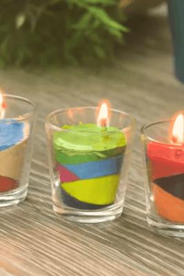 cara membuat lilin pelangi