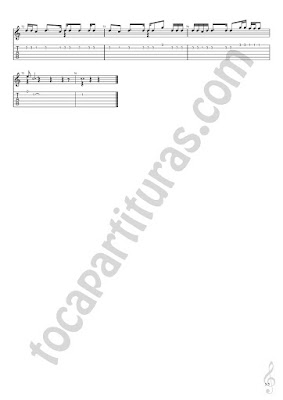 5 Partitura y Tablatura de Guitarra con pentagrama y números de Muévelo de Nicky Jamm y Daddy Yankee en descarga gratis (Punteo Tabs) Tablature Sheet Music for Guitar Fingerings Tabs