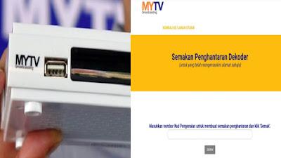 Semakan Status Penghantaran Dekoder Percuma MYTV 2020 Bagi Isi Rumah B40 & OKU