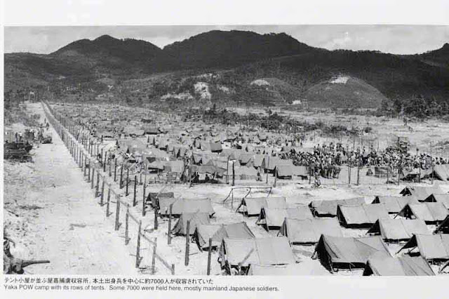 POW tents after the war