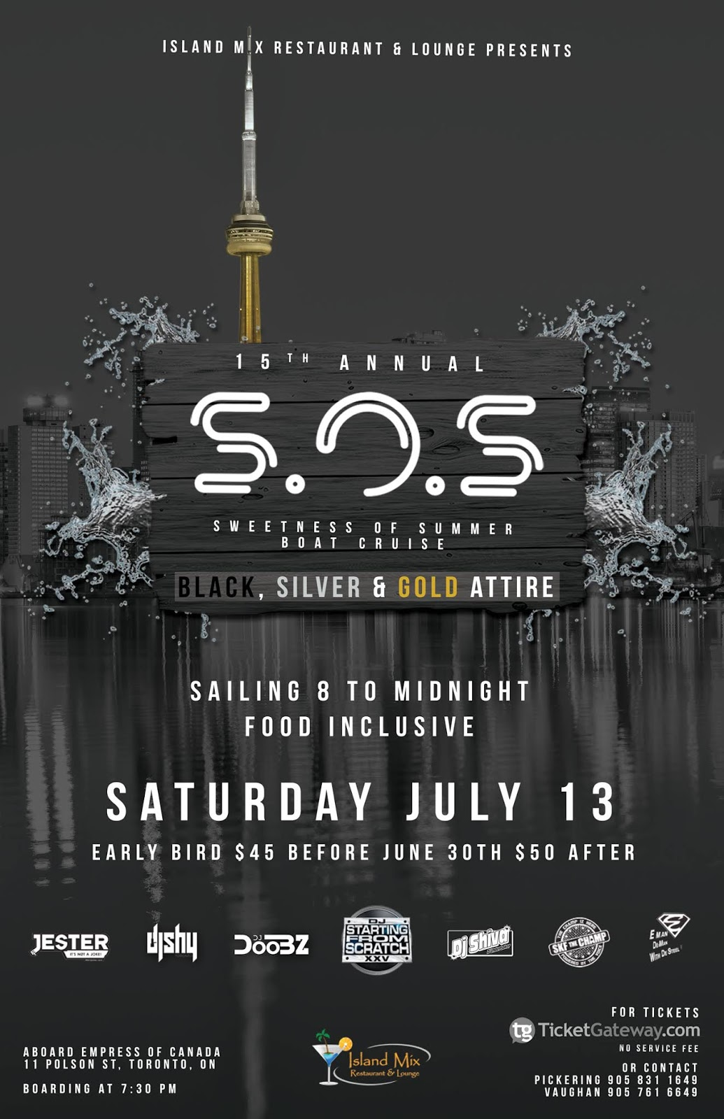 C A  Confidential: SOS Sweetness of Summer 15th Annual Boat Cruise